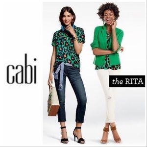 CAbi Rita Animal Cheetah Print Blouse Sty#5023 Sm